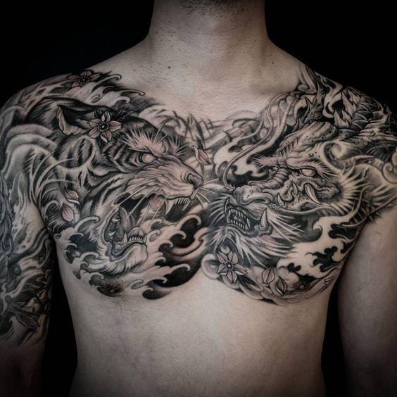Tatouage Tigre Et Dragon (2)