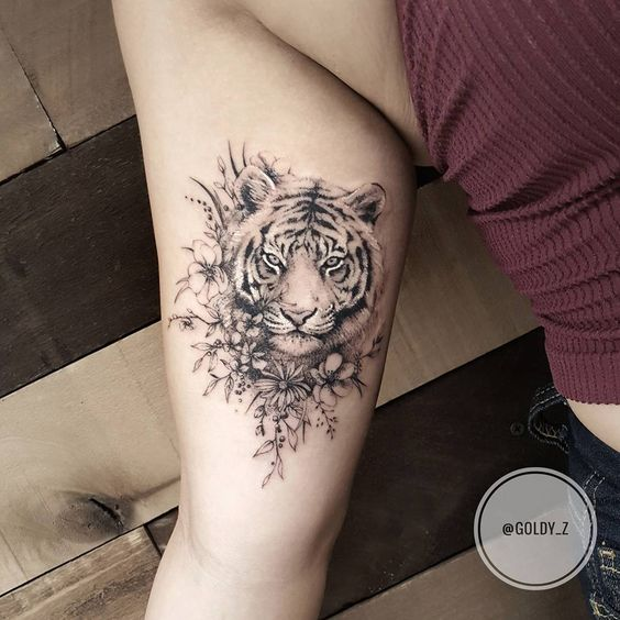 Tatouage Tigre Femme (3)