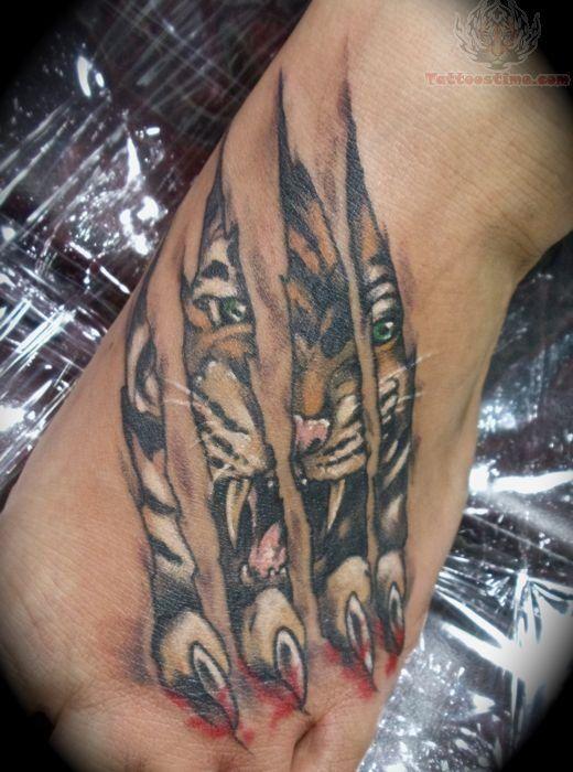 Tatouage Tigre Homme (1)