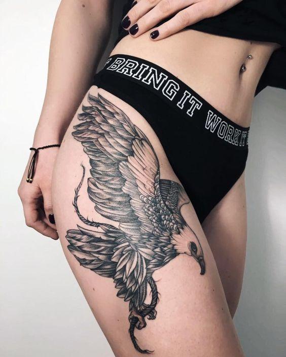 Tatouages Aigle Femme (6)