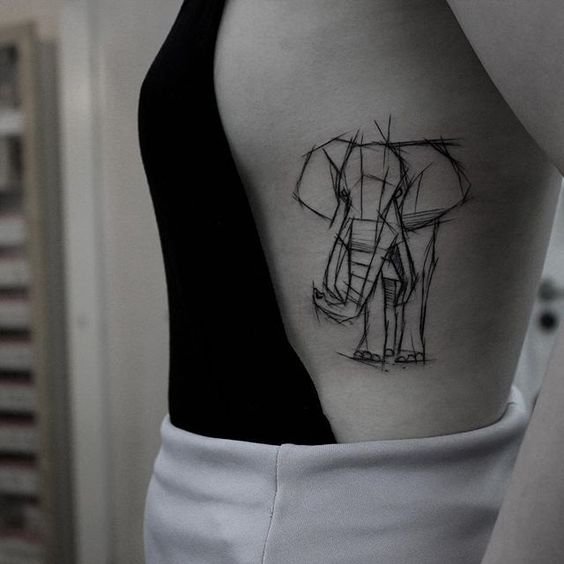 Tatouages Elephant Femme (13)