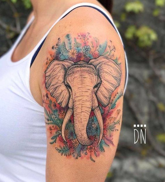 Tatouages Elephant Femme (2)