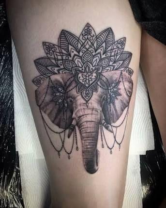 Tatouages Elephant Femme (8)