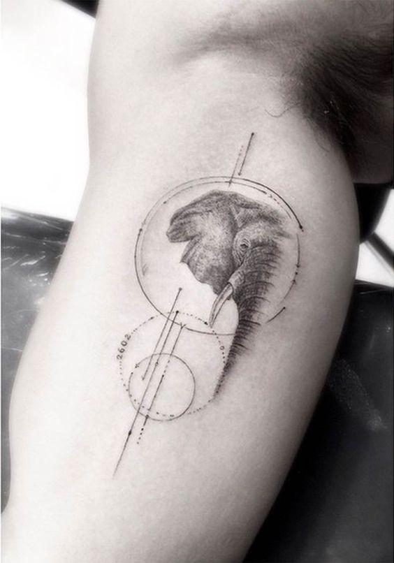Tatouages Elephant Homme (2)