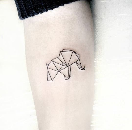 Tatouages Elephant Simple (11)