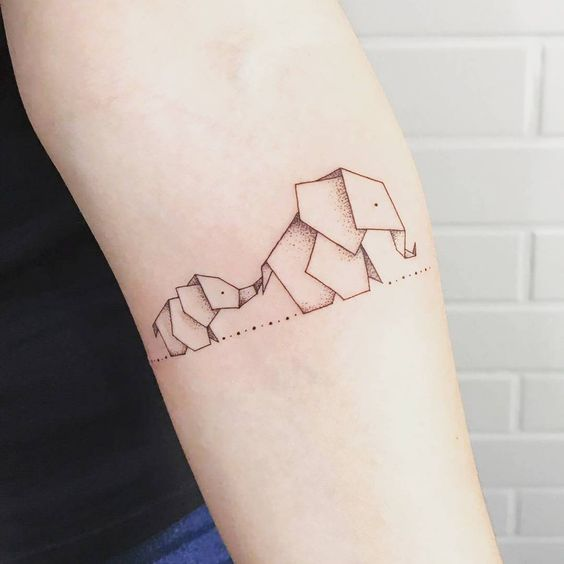 Tatouages Elephant Simple (13)