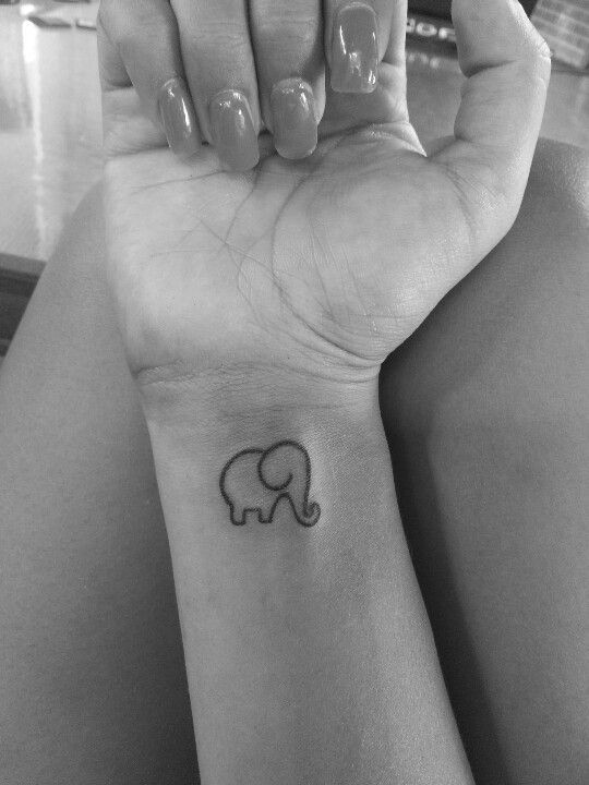 Tatouages Elephant Simple (2)