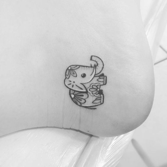 Tatouages Elephant Simple (7)