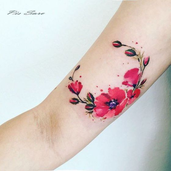 Tatouages Fleurs Bras (2)