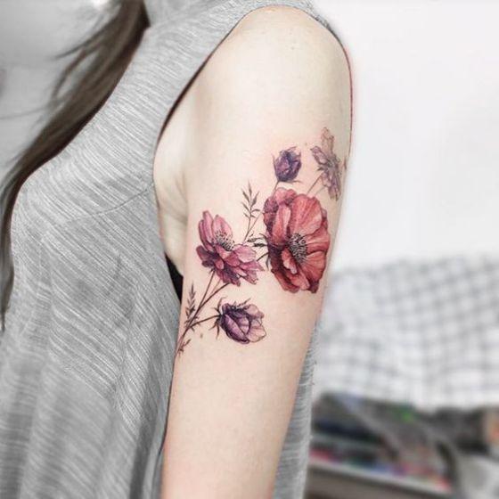 Tatouages Fleurs Bras (3)