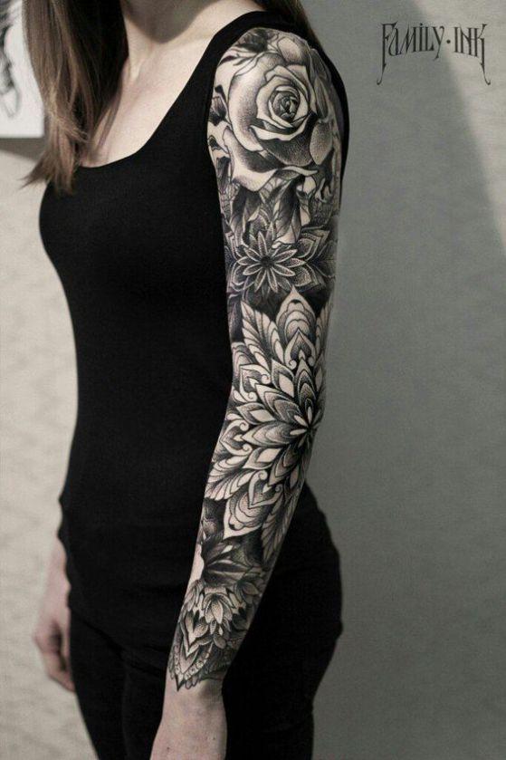 Tatouages Fleurs Femme (8)
