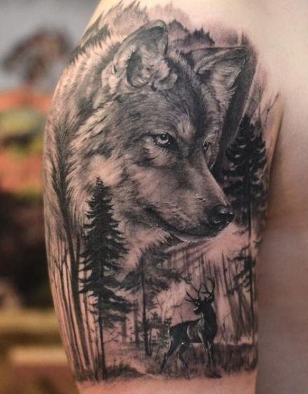 Tatouages Loup Homme (1)