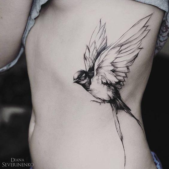 Tatouages Oiseaux Femme (1)