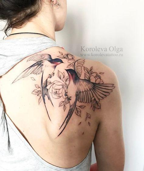 Tatouages Oiseaux Femme (6)