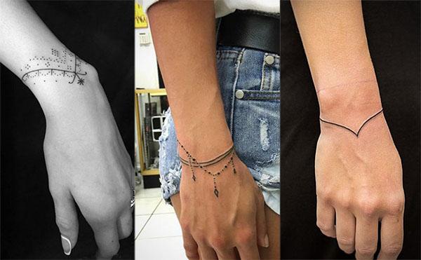 Tatouages Poignet Bracelet (3)