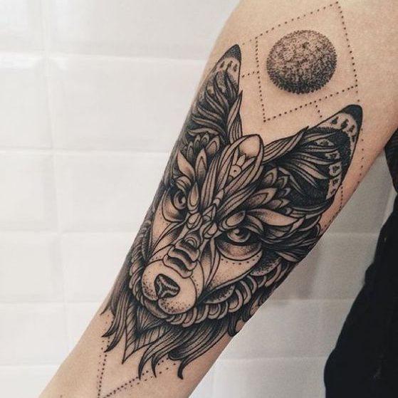 diseño de tatuaje para lobos
