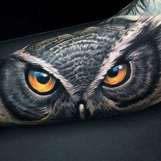 tatuajes de buhos a color (7)