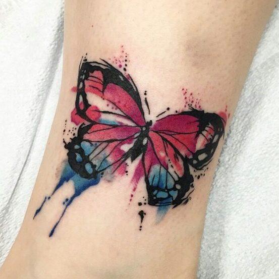 tatuajes de mariposas en los pies (4)